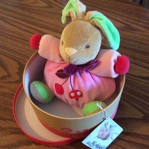 Kaloo baby box stuff bunny toy NWT +